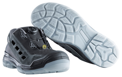 MASCOT® Grofa - nero/antracite - Sandali antinfortunio S1P con sistema di chiusura Boa®
