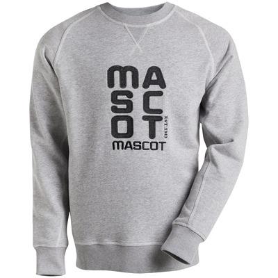 MASCOT® HARDWEAR - grigio melange* - Felpa con logo MASCOT ricamato, outfit moderno