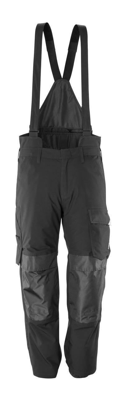 MASCOT® HARDWEAR - nero - Sovrapantalone con tasche porta-ginocchiere, antivento e impermeabile