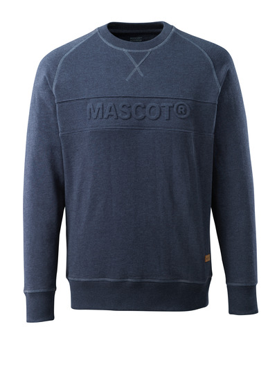 MASCOT® HARDWEAR - blu scuro denim lavato - Felpa con logo MASCOT in rilievo, outfit moderno