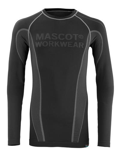 MASCOT® Hamar - nero - Sottomaglia tecnica, traspirante, asciuga rapidamente