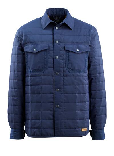 MASCOT® Hoboken - blu navy - Camicia con fodera e bottoni a pressione