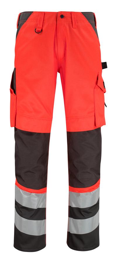 MASCOT® Horta - rosso hi-vis/antracite scuro* - Pantaloni con tasche porta-ginocchiere