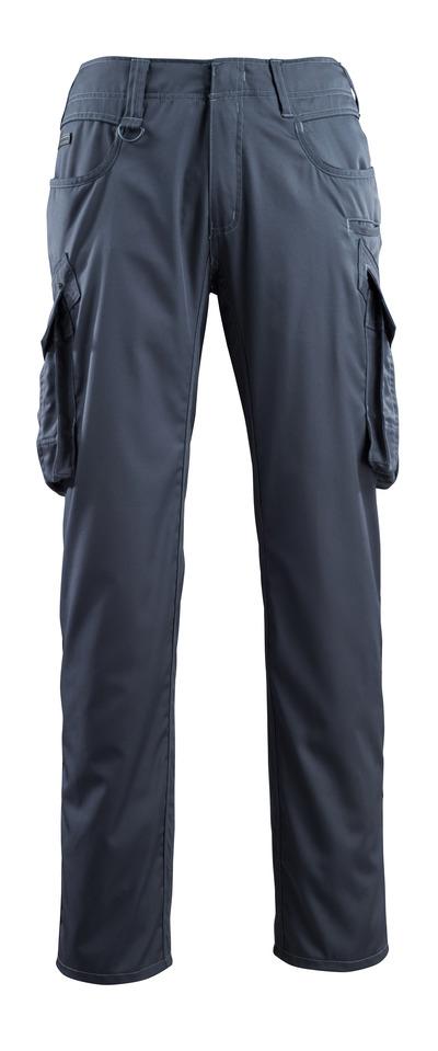 MASCOT® Ingolstadt - blu navy scuro - Pantaloni con tasche sulle cosce, ekstra peso ridotto
