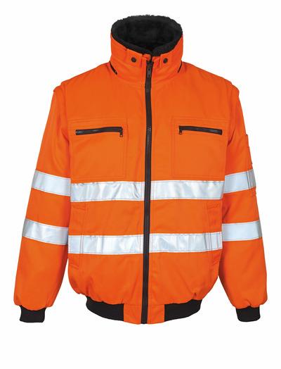 MASCOT® Innsbruck - arancio hi-vis - Giacca da pilota con fodera in pile staccabile, idrorepellente, classe 2