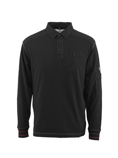 MASCOT® Ios - nero - Polo Felpata con tasca sul petto, outfit moderno