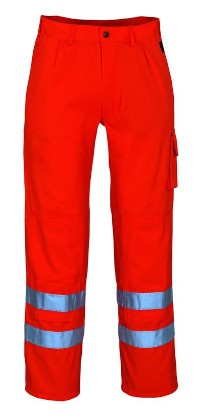 MASCOT® Iowa - arancio hi-vis* - Pantaloni con tasche porta-ginocchiere