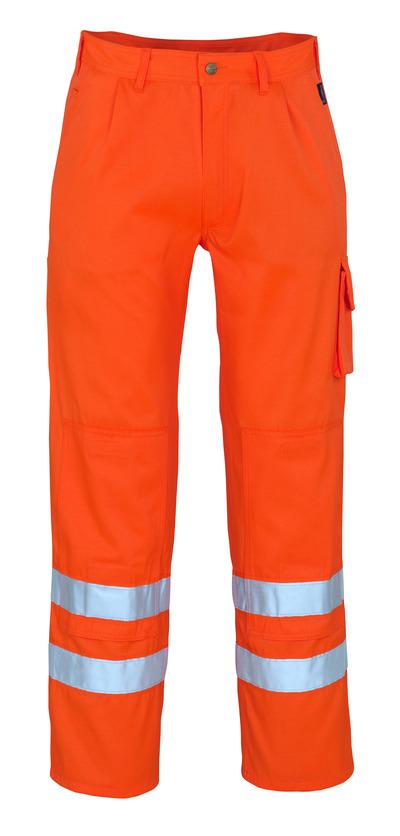 MASCOT® Iowa - arancio hi-vis* - Pantaloni con tasche porta-ginocchiere, classe 1/2