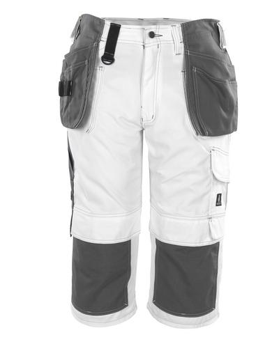 MASCOT® Jaca - bianco* - Pantaloni a ¾ con tasche porta-ginocchiere e tasche esterne