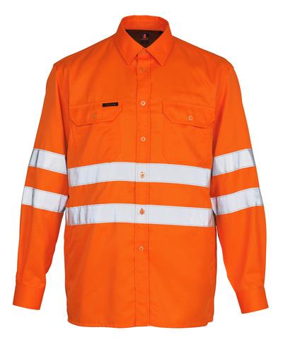 MASCOT® Jona - arancio hi-vis - Camicia, taglio classico, classe 3