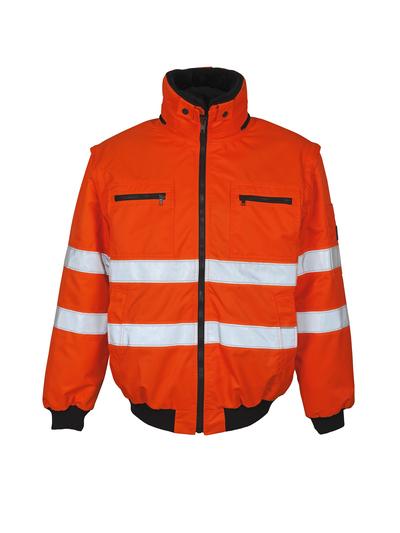 MASCOT® Kaprun - arancio hi-vis - Giacca da pilota con fodera in pile staccabile, idrorepellente, classe 3