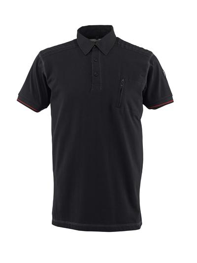 MASCOT® Kreta - nero - Polo, outfit moderno, tasca pettorale