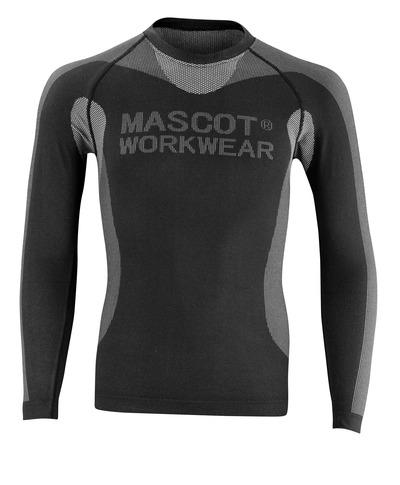MASCOT® Lahti - nero - Sottomaglia tecnica, peso ridotto, asciuga rapidamente