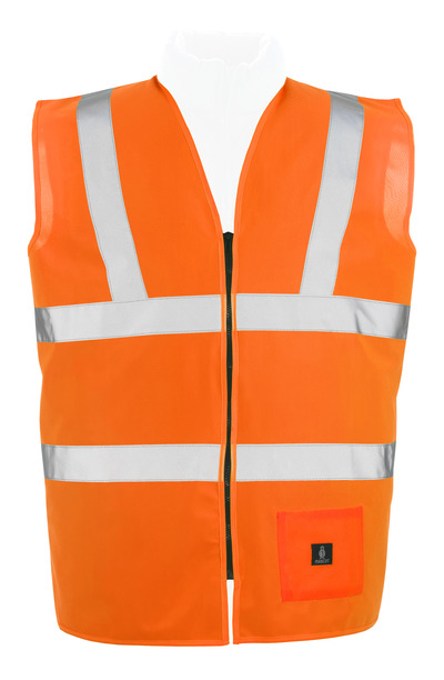 MASCOT® Lakewood - arancio hi-vis* - Gilet ad alta visibilità con chiusura lampoclasse 2