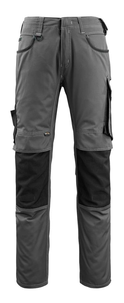 MASCOT® Lemberg - antracite scuro/nero - Pantaloni con tasche porta-ginocchiere in CORDURA®, ekstra peso ridotto
