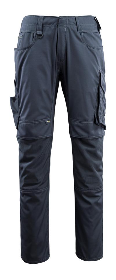 MASCOT® Lemberg - blu navy scuro - Pantaloni con tasche porta-ginocchiere in CORDURA®, ekstra peso ridotto