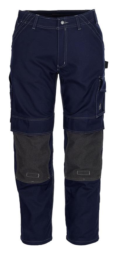 MASCOT® Lerida - blu navy - Pantaloni con tasche porta-ginocchiere in Kevlar®, alta resistenza all'usura