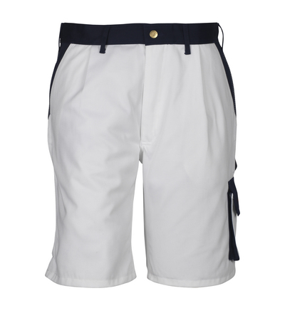 MASCOT® Lido - bianco/blu navy*/¹) - Pantaloni corti, alta resistenza all'usura