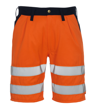 MASCOT® Lido - arancio hi-vis/blu navy* - Pantaloni corti, classe 1/2