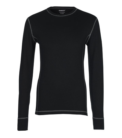 MASCOT® Logrono - nero - Sottomaglia tecnica, traspirante, asciuga rapidamente