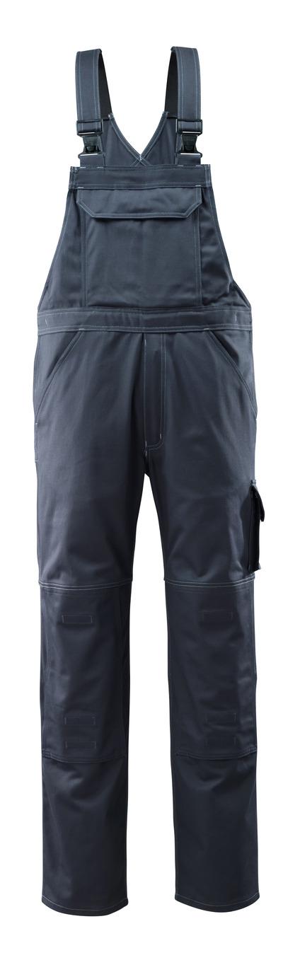 MASCOT® Lowell - blu navy scuro - Salopette con tasche porta-ginocchiere, cotone