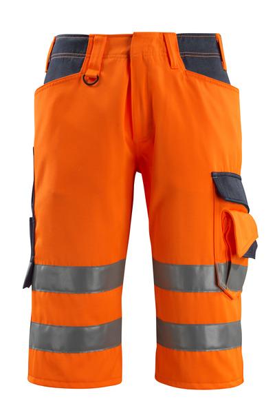 MASCOT® Luton - arancio hi-vis/blu navy scuro - Pantaloni a ¾, classe 1