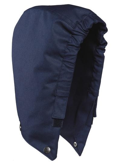 MASCOT® MacGill - blu navy - Cappuccio con bottoni automatici