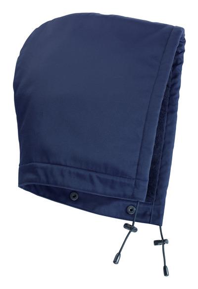 MASCOT® MacKenzie - blu navy - Cappuccio con bottoni a pressione e fodera, idrorepellente