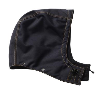 MASCOT® MacNeal - blu navy scuro - Cappuccio con bottoni a pressione e fodera, impermeabile
