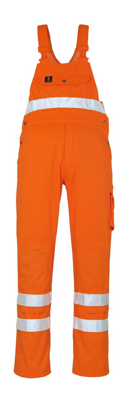 MASCOT® Maine - arancio hi-vis* - Salopette con tasche porta-ginocchiere, classe 2/2