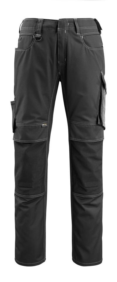 MASCOT® Mannheim - nero/antracite scuro - Pantaloni con tasche porta-ginocchiere in CORDURA®, peso ridotto