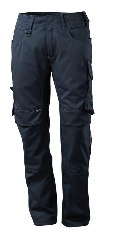 MASCOT® Mannheim - blu navy scuro - Pantaloni con tasche porta-ginocchiere in CORDURA®, peso ridotto