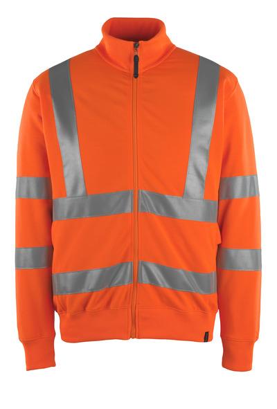 MASCOT® Maringa - arancio hi-vis - Felpa con chiusura lampo, outfit moderno, classe 3