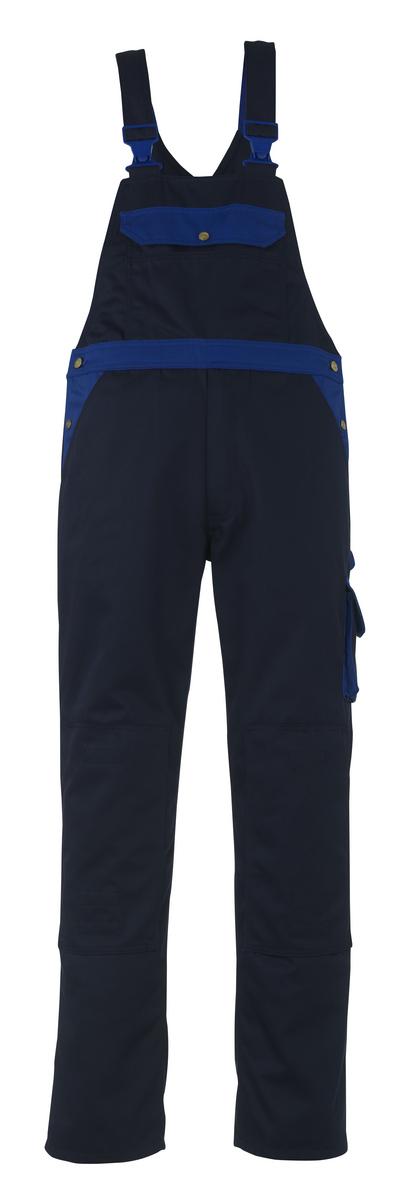 MASCOT® Milano - blu navy/blu royal - Salopette con tasche porta-ginocchiere, alta resistenza all'usura