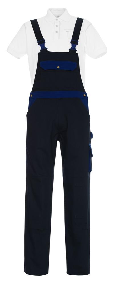 MASCOT® Monza - blu navy/blu royal - Salopette con tasche porta-ginocchiere, cotone