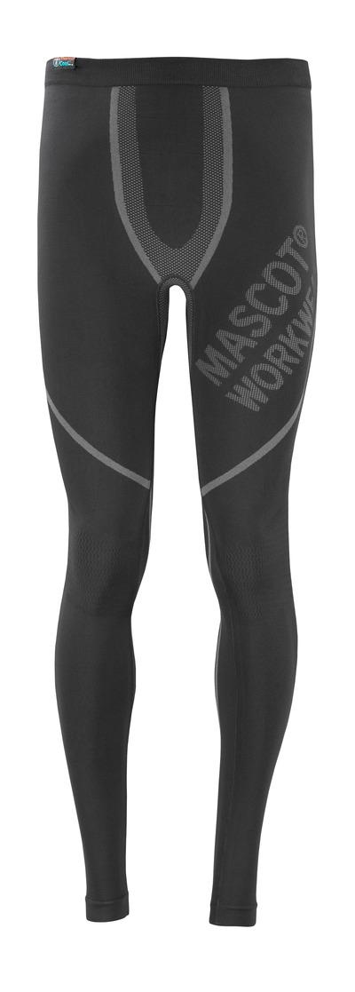 MASCOT® Moss - nero - Sottopantaloni tecnici, traspirante, asciuga rapidamente