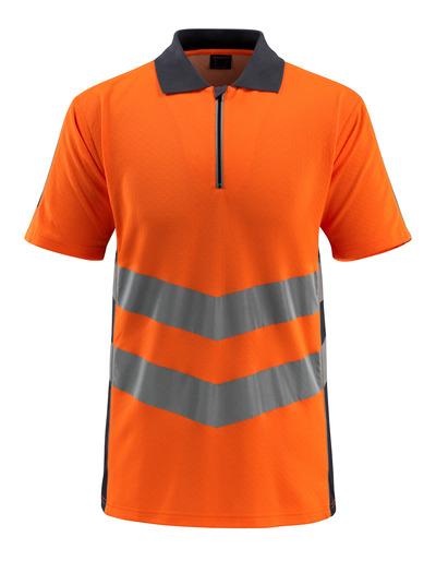 MASCOT® Murton - arancio hi-vis/blu navy scuro - Polo con chiusura lampo, outfit moderno, classe 2