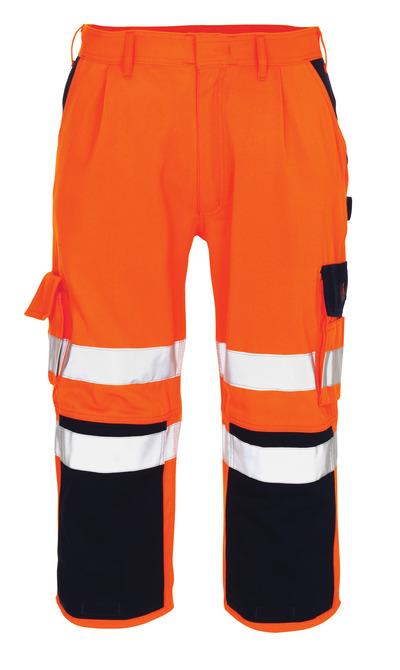 MASCOT® Natal - arancio hi-vis/blu navy* - Pantaloni a ¾ con tasche porta-ginocchiere