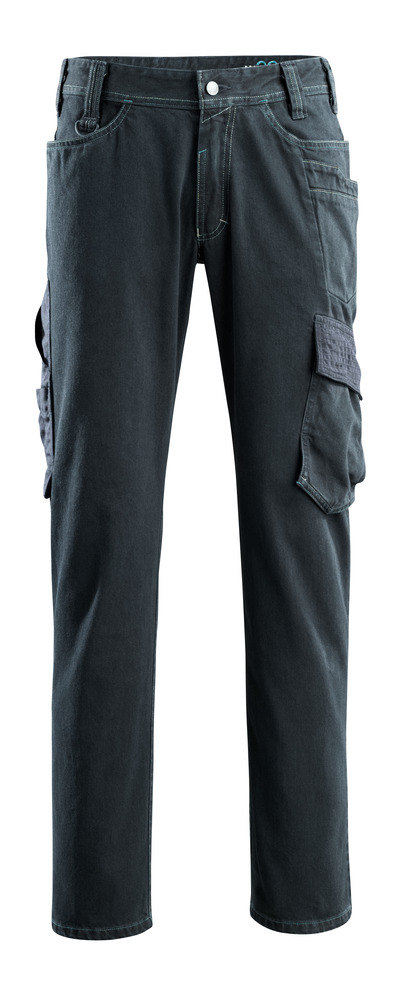 MASCOT® Navia - blu scuro denim - Jeans con tasche sulle cosce, estrema resistenza