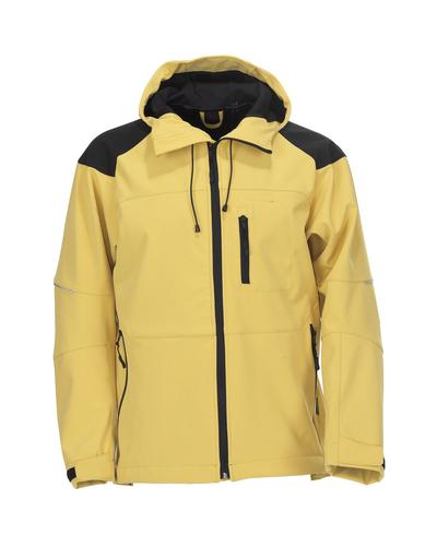 MASCOT® Nisa - giallo/nero* - Giacca softshell con cappuccio, idrorepellente