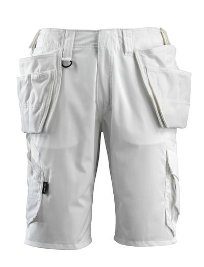 MASCOT® Olot - bianco - Pantaloni Corti con tasche esterne