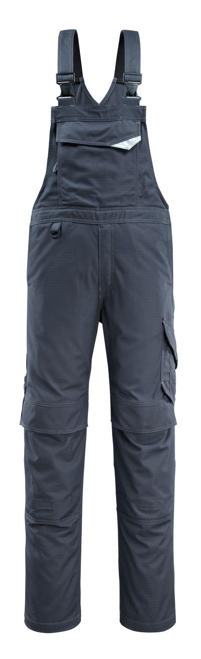 MASCOT® Oron - blu navy scuro - Salopette con tasche porta-ginocchiere, repellente dello sporco, multiprotezione