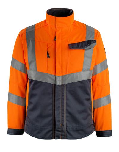 MASCOT® Oxford - arancio hi-vis/blu navy scuro - Giacca, alta resistenza all'usura, classe 2