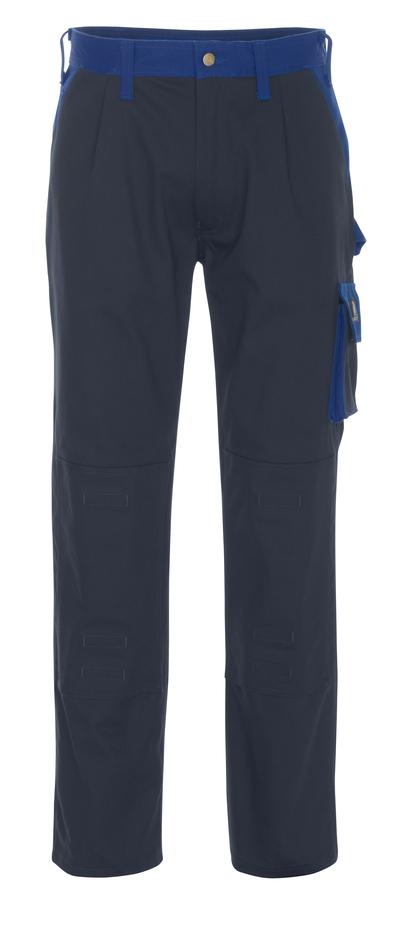 MASCOT® Palermo - blu navy/blu royal - Pantaloni con tasche porta-ginocchiere, cotone