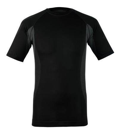 MASCOT® Pavia - antracite scuro - Sottomaglia tecnica, a maniche corte, peso ridotto, traspirante
