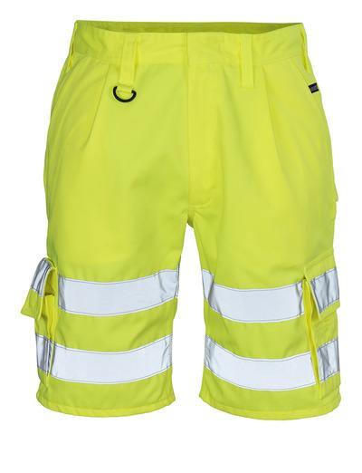 MASCOT® Pisa - giallo hi-vis - Pantaloni corti, classe 1