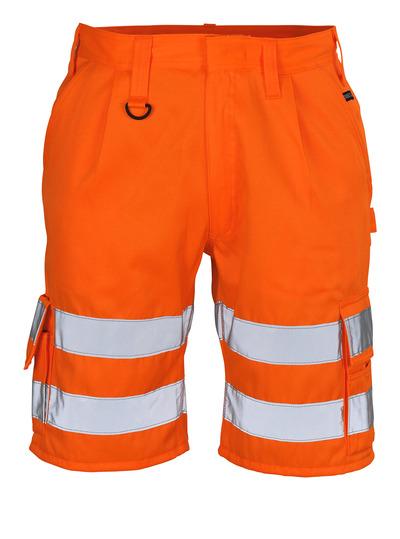 MASCOT® Pisa - arancio hi-vis - Pantaloni corti, classe 1