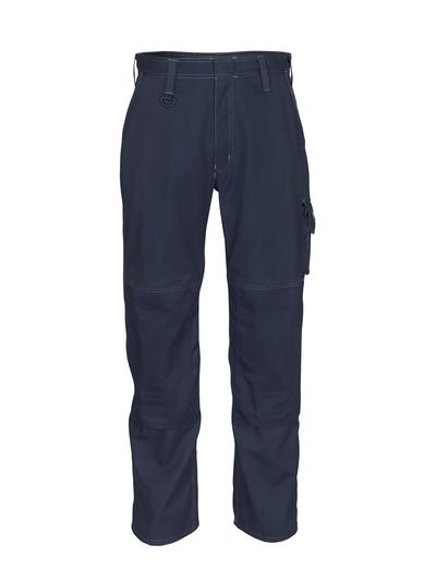 MASCOT® Pittsburgh - blu navy scuro - Pantaloni con tasche porta-ginocchiere, peso ridotto