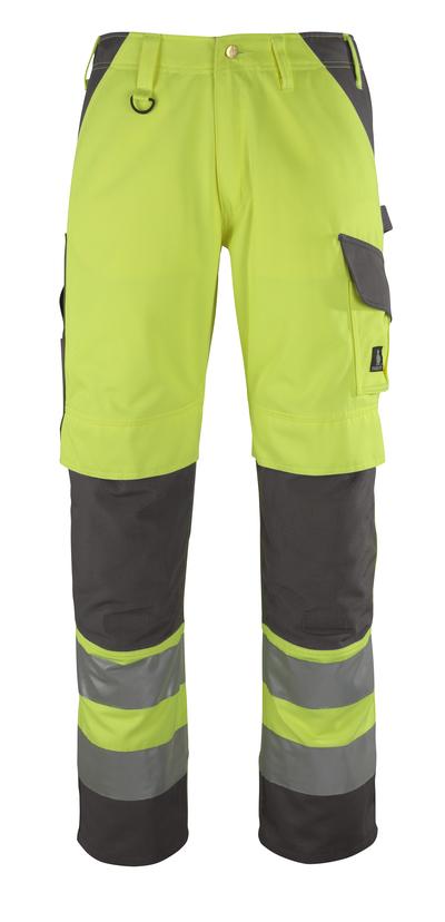 MASCOT® Redondo - giallo hi-vis/antracite* - Pantaloni con tasche porta-ginocchiere