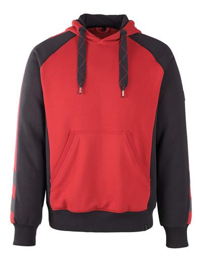 MASCOT® Regensburg - rosso/nero - Felpa con cappuccio